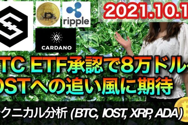 仮想通貨 テクニカル分析【10/17 今後の予想(BTC、IOST、XRP、ADA)】
